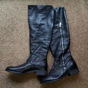 Black Leather with Silver Detail Boots